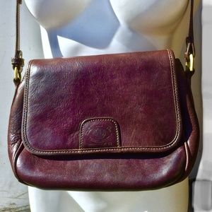 Ghurka Brown Leather Crossbody Shoulder Bag